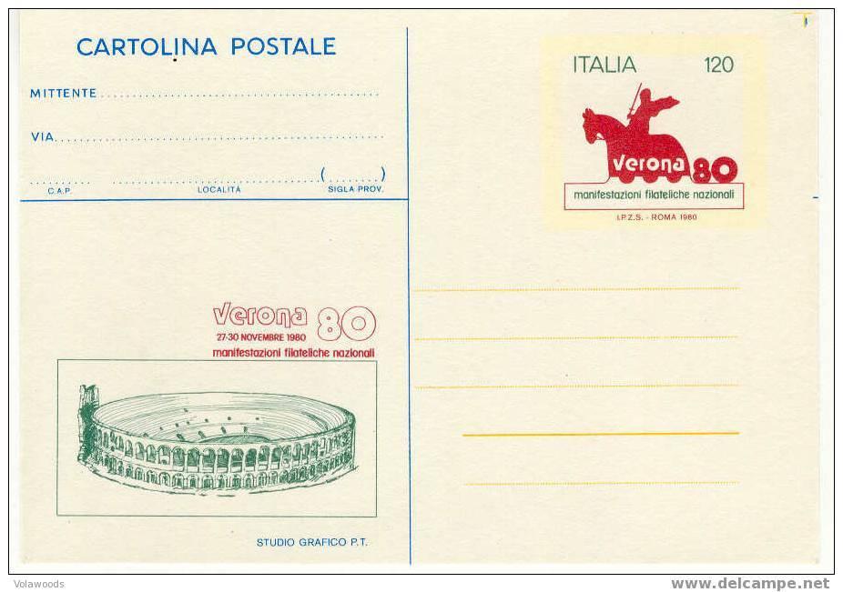 Italia - Cartolina Postale Nuova: Verona 80  Manifestazione Filatelica Nazionale - 4. 1944-45 Repubblica Sociale