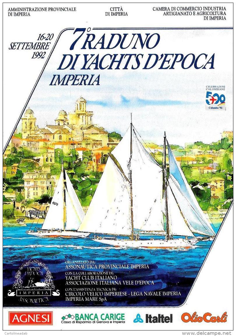 [MD2054] CPM - IMPERIA - 7° RADUNO DI YACHTS D'EPOCA - CON ANNULLO 6.121992 - NV - Imperia