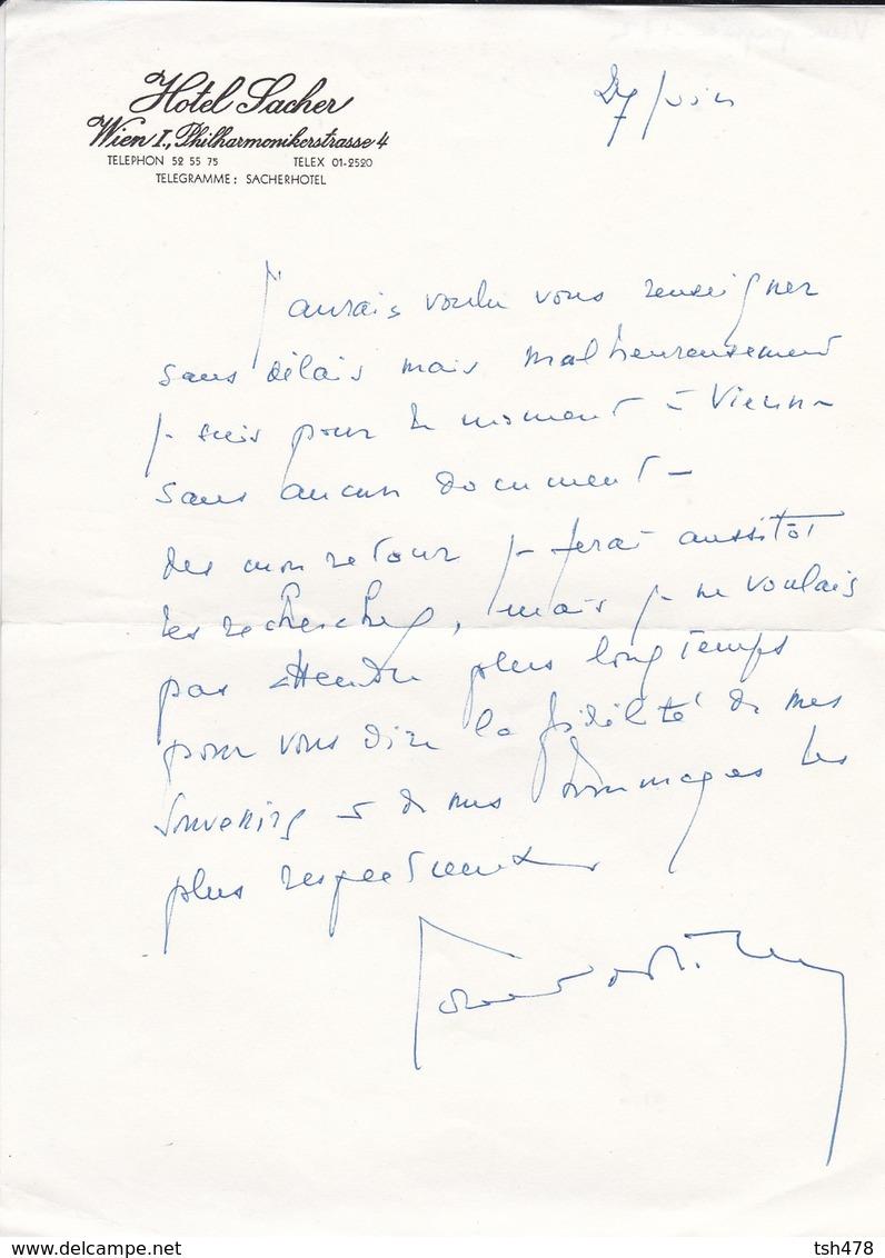 VIEUX PAPIER--AUTRICHE--WIEN--hotel SACHER---voir  2 Scans - Australie