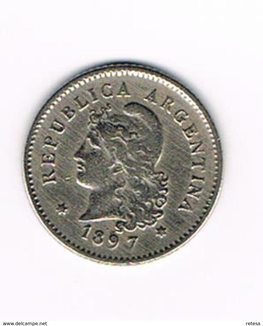 -&   ARGENTINA  10  CENTAVOS  1897 - Argentine