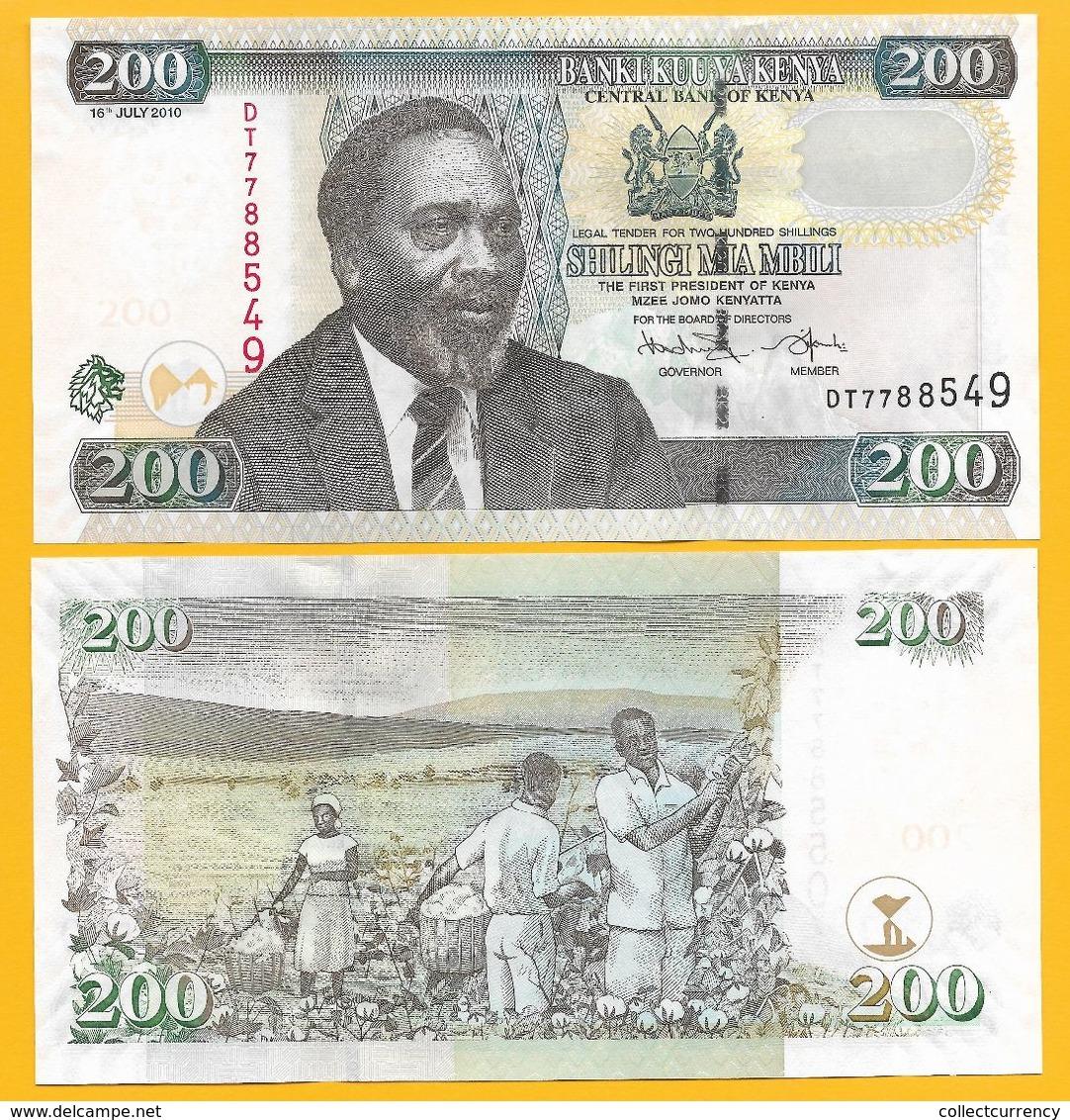 Kenya 200 Shillings P-49e 2010 UNC - Kenia