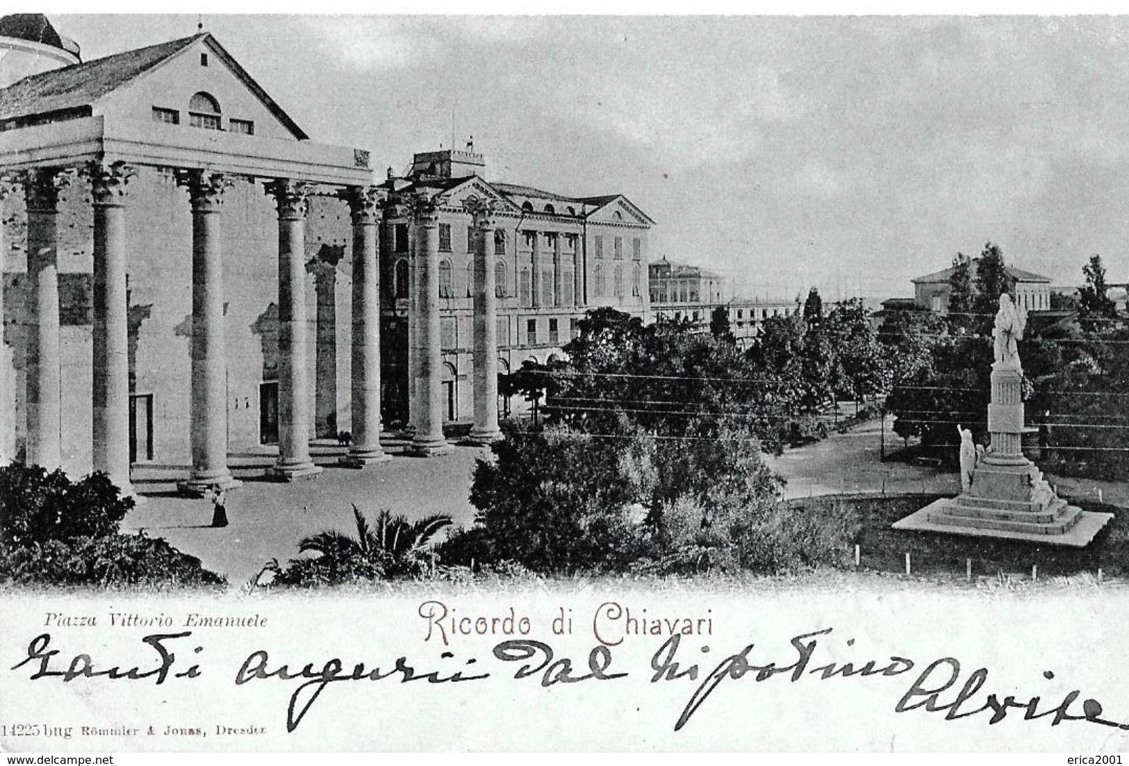 Autres Villes; Chiavari. Piazza Vittorio Emanuele, Cpa Datée De 1900. - Autres Villes