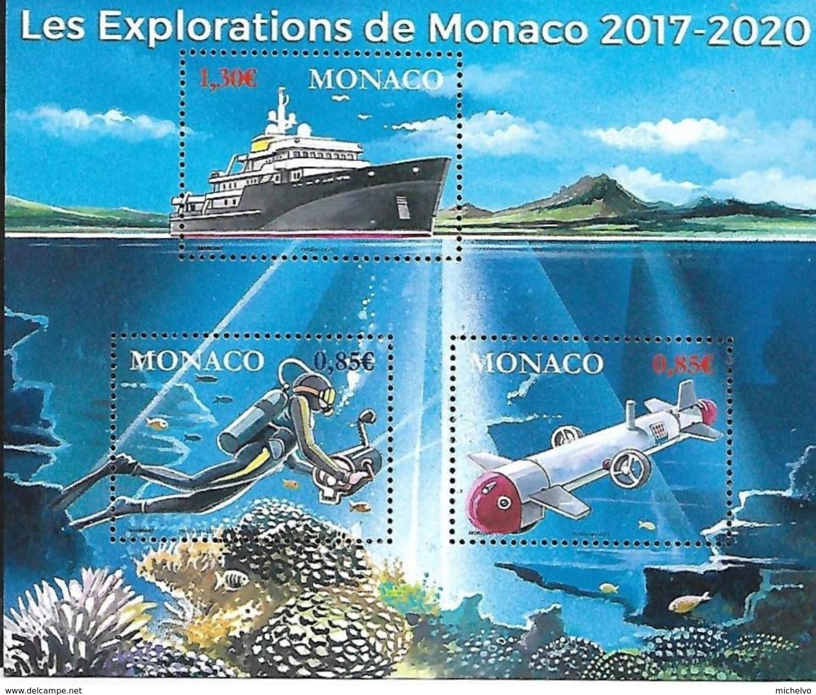 Monaco 2017 - Yv N° F3107 ** - Les Explorations De Monaco - Monaco