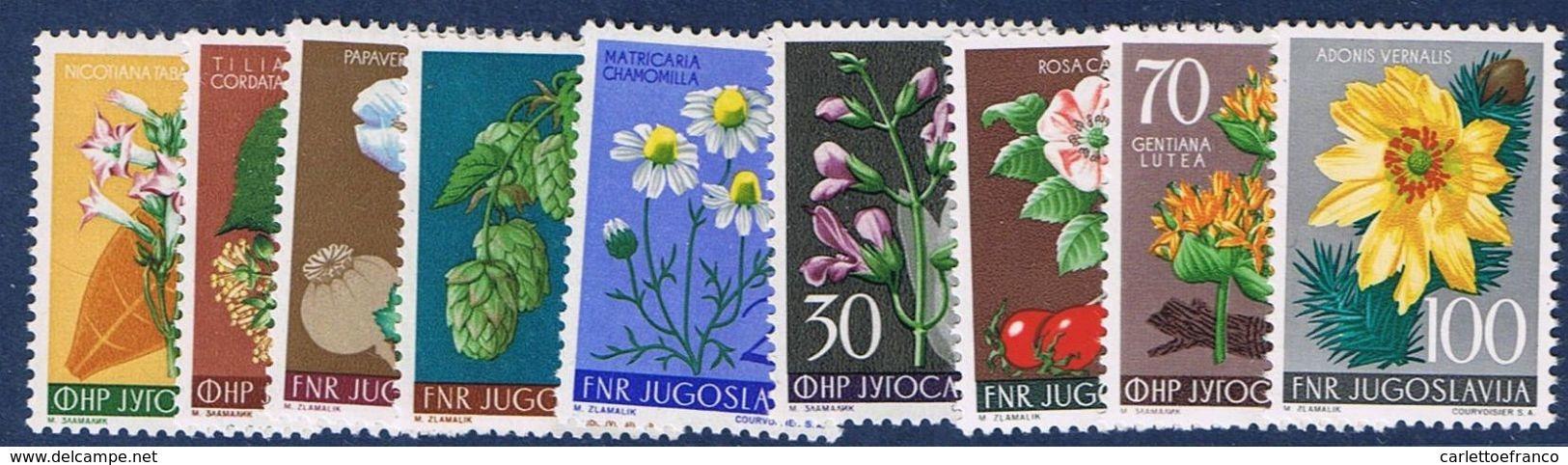 1955 : Prima Serie Flora  - Nuovi - Perfetti - ** - Nuovi