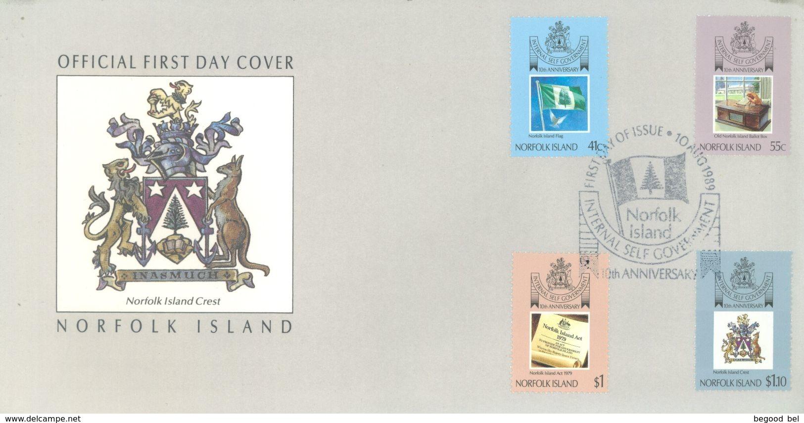 NORFOLK ISLAND - FDC - 10.8.1989  - Yv 455-458 ASC 457-460 - Lot 17493 - Ile Norfolk