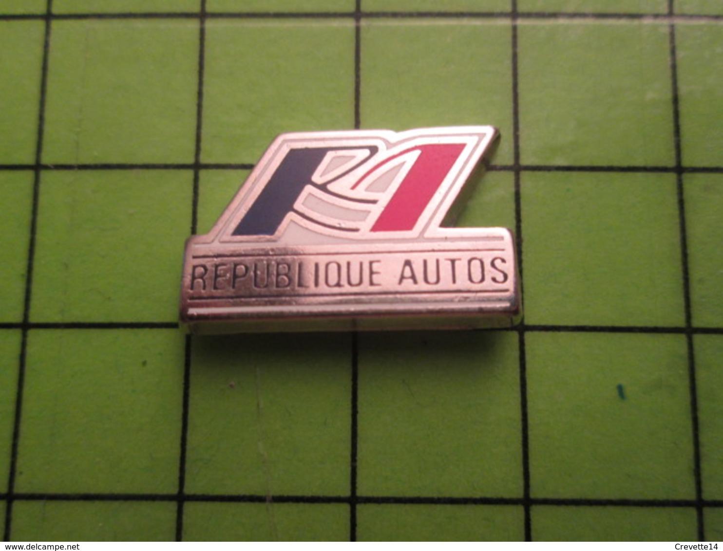 718a Pin's Pins / Beau Et Rare : Thème AUTOMOBILE / REPUBLIQUE AUTOS Par PICHARD SAUMUR - Badges