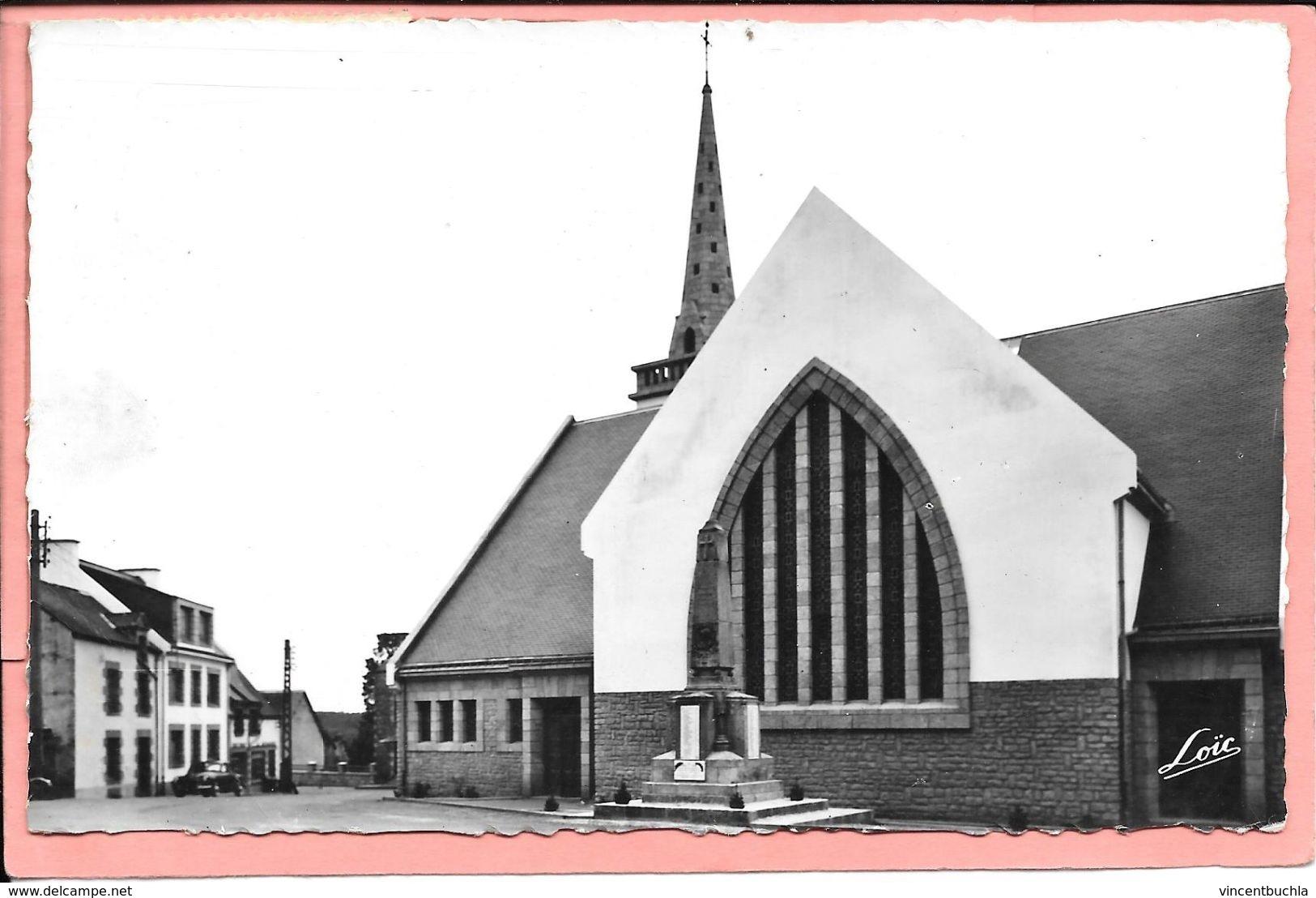 Pleugriffet - L'Eglise Cachet Héxagonal Au Dos - France