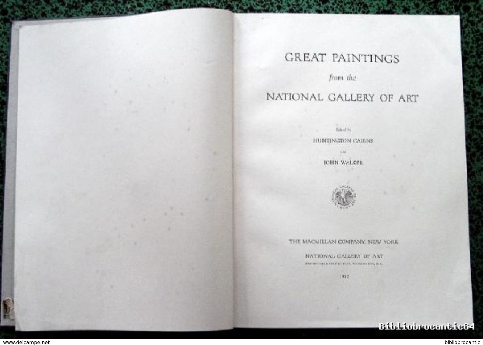 * GREAT PAINTINGS * FROM NATIONAL GALLERY OF ART USA < 1952 - Beaux-Arts