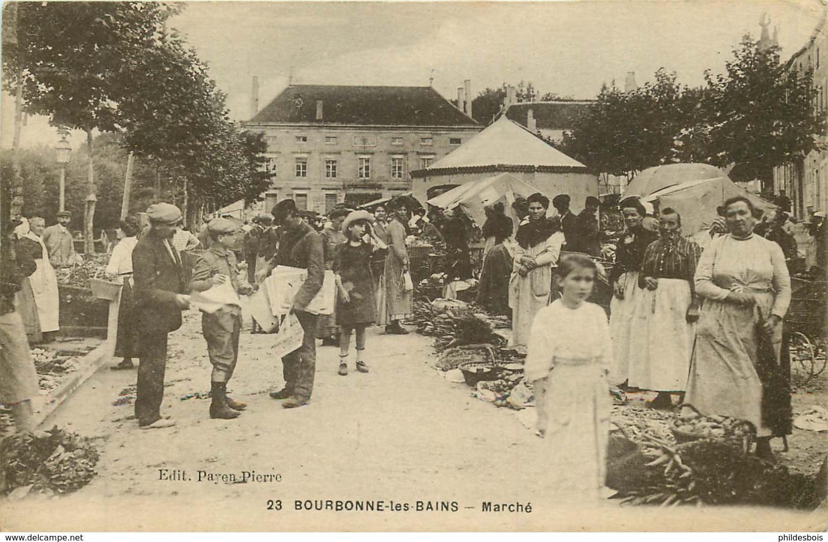 HAUTE MARNE  BOURBONNE LES BAINS Marché - Bourbonne Les Bains