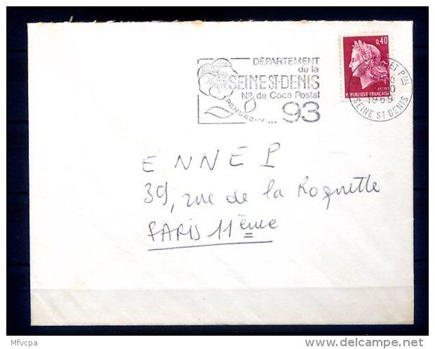 3672 SEINE ST DENIS Secap  Département Saine St Denis N° / 93 Bagnolet PPal 02-10-1969 - Marcophilie (Lettres)