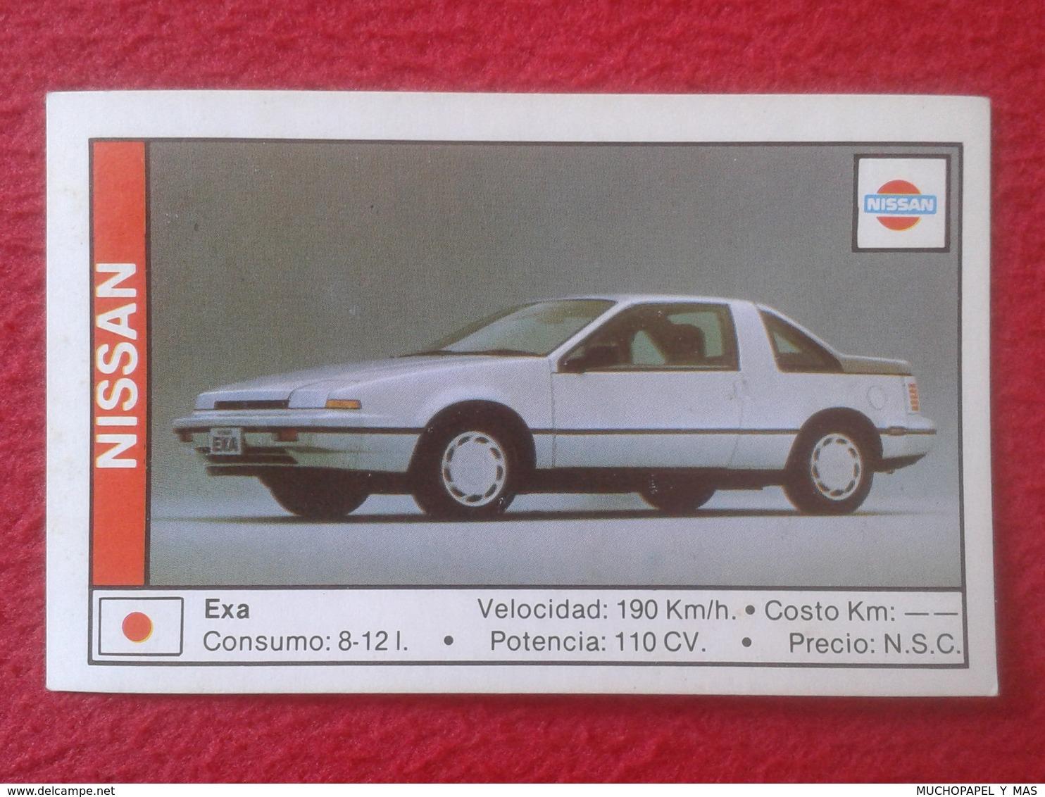 SPAIN ESPAGNE. ANTIGUO OLD CROMO ESTAMPA 1988 COCHES 89 COCHE CAR CARS AUTO AUTOMÓVIL NISSAN EXA JAPAN NIPPON JAPÓN VER - Cromos