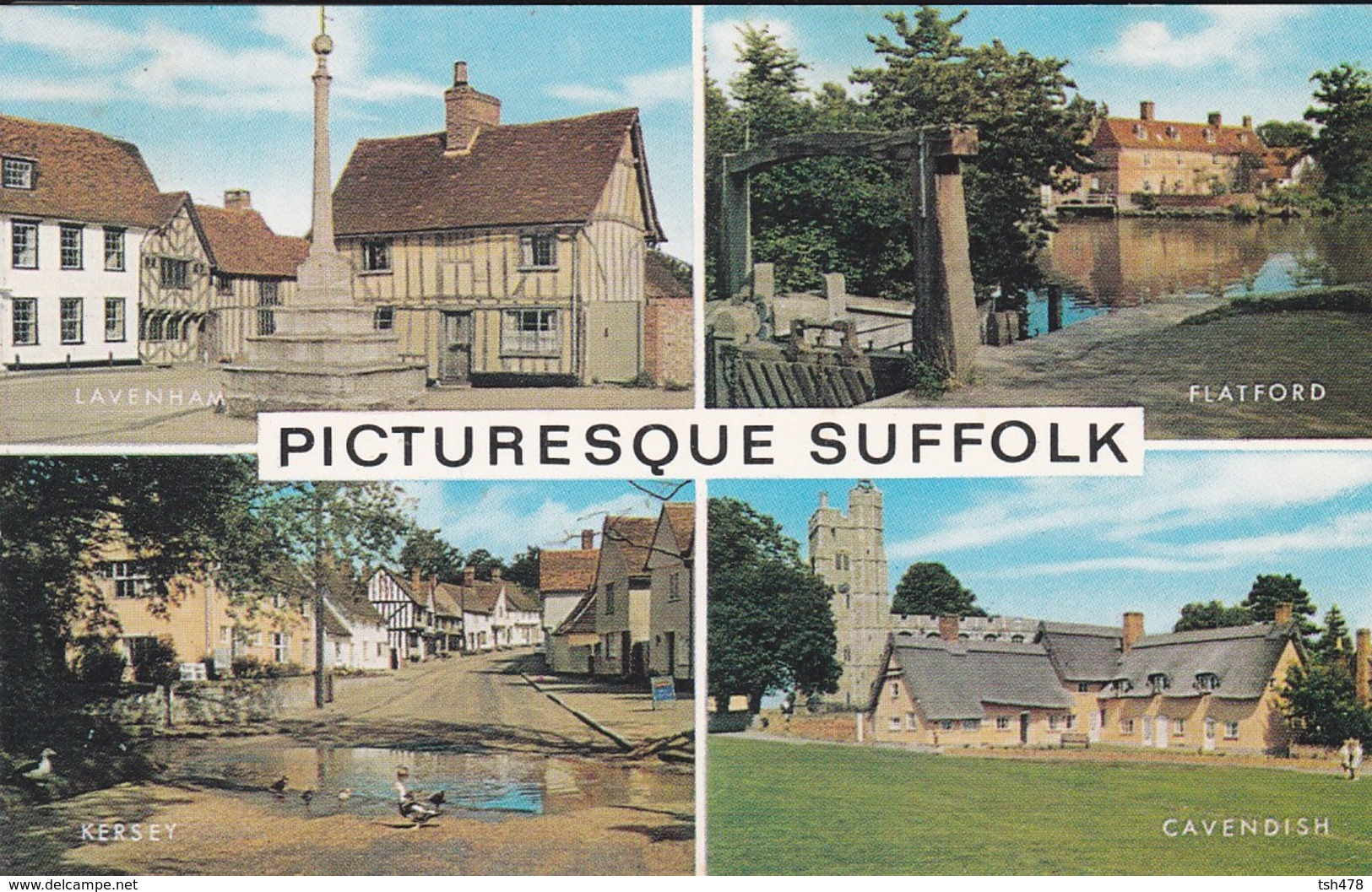 ANGLETERRE---PICTURESQUE SUFFOLK---( Multivues )---voir  2 Scans - Angleterre