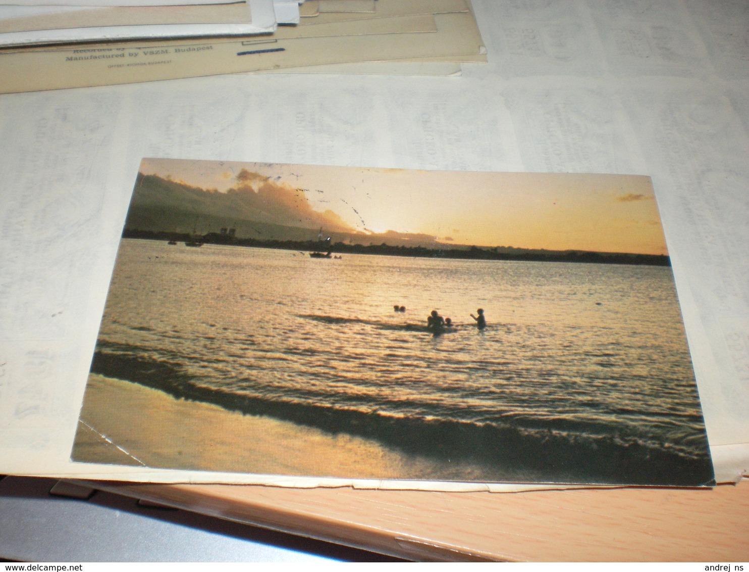 Samoan Shoreline At Sunset - Samoa Americana