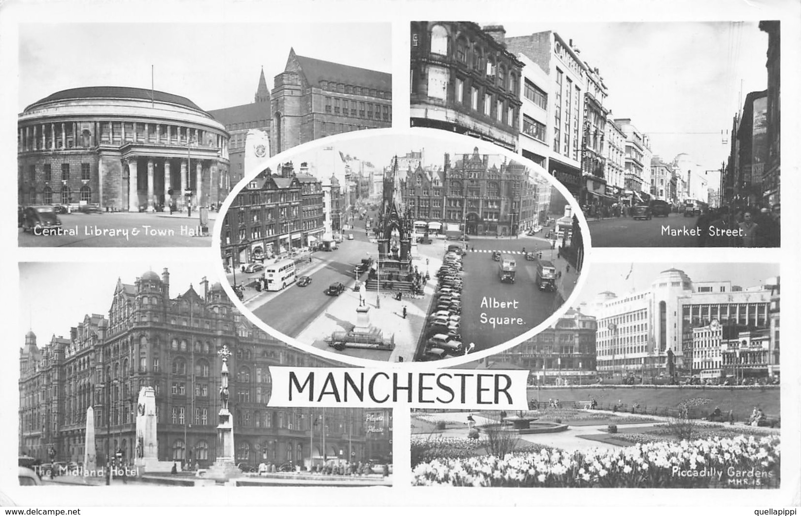 """D08081 """"MANCHESTER""""  VARIE INQUADRATURE. CART  SPED 1961 - Manchester"""