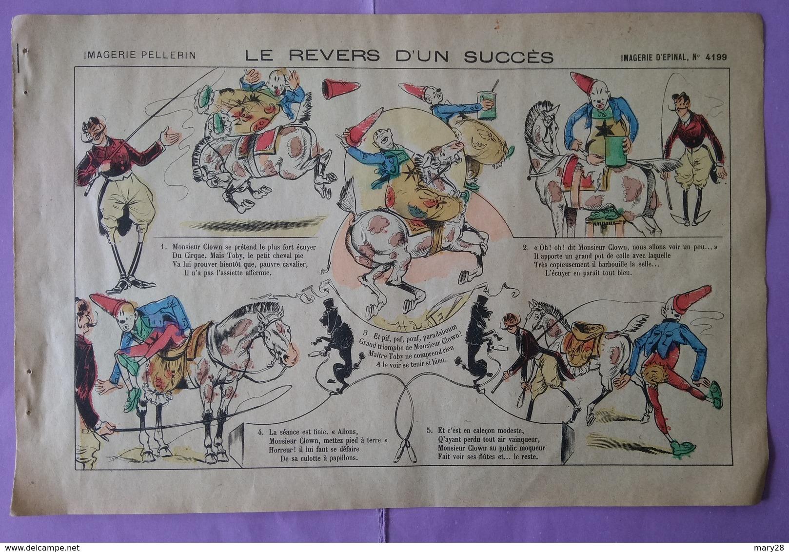 Image D Epinal Imagerie Pellerin Le Revers D Un Succes N° 4199 - Clowm Cirque - Other