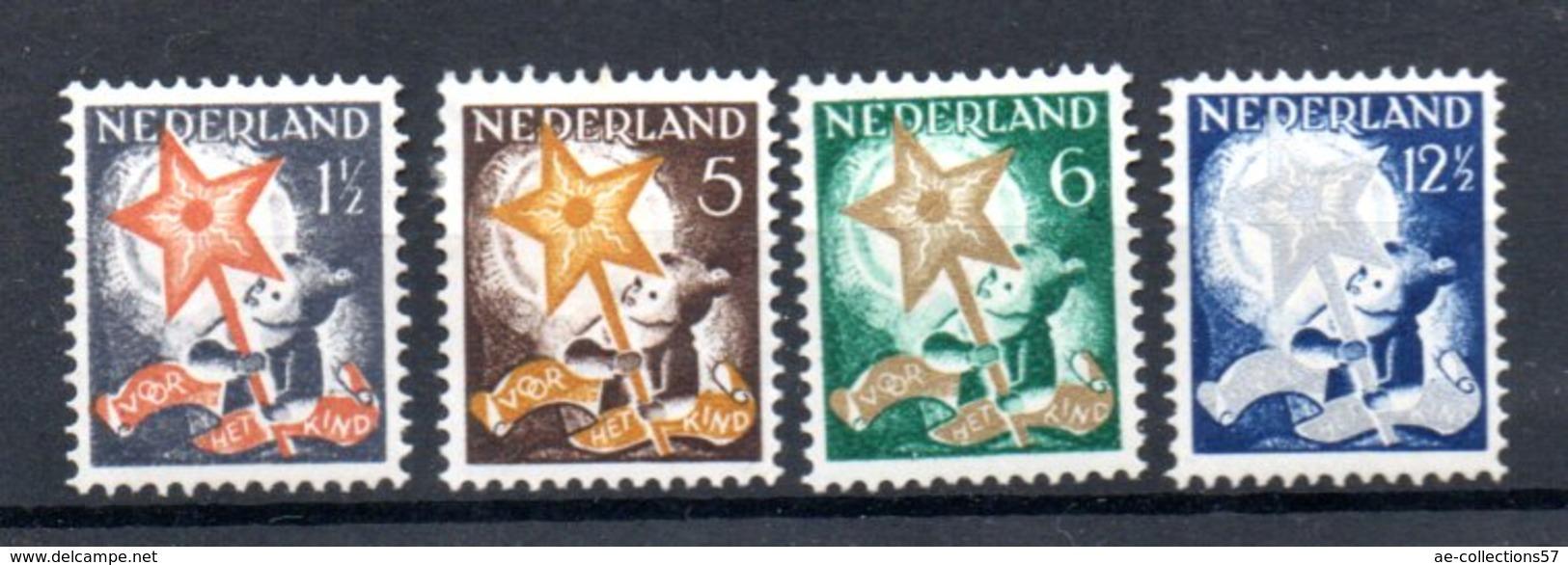 Pays Bas / Série N 245 à 248 / NEUFS Avec Trace De Charnière / Côte 40 € - Period 1891-1948 (Wilhelmina)