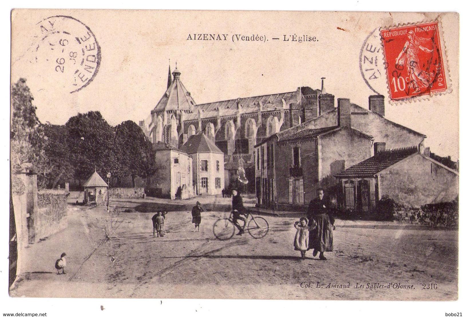 2071 - Aizenay ( 85 ) - L'Eglise - Coll. L. Amiaud - - Aizenay