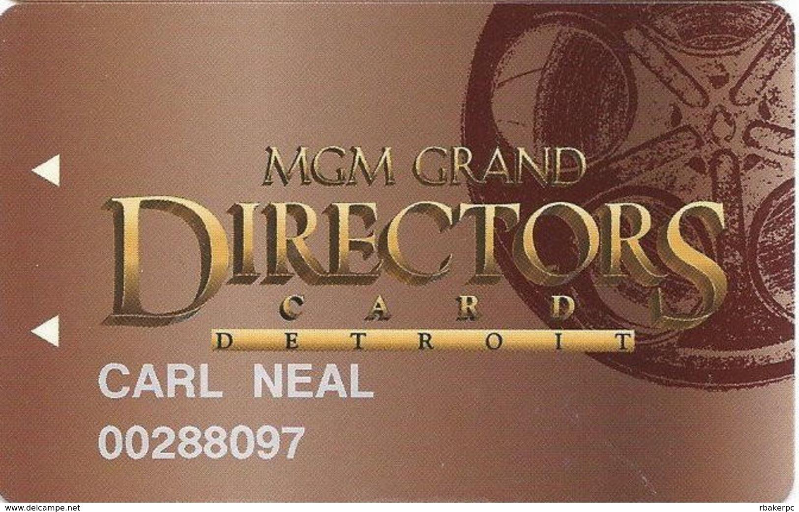 MGM Grand Casino - Detroit, MI - 2nd Issue Slot Card - Casino Cards
