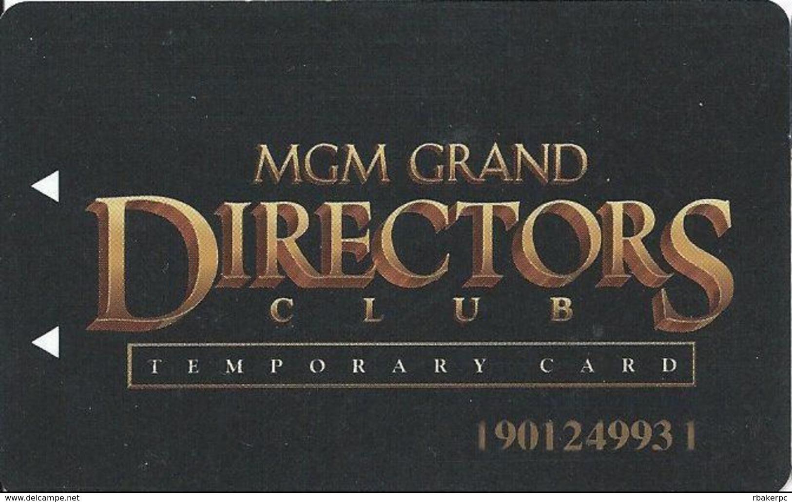MGM Grand Casino - Las Vegas, NV - Temporary Slot Card - Casino Cards