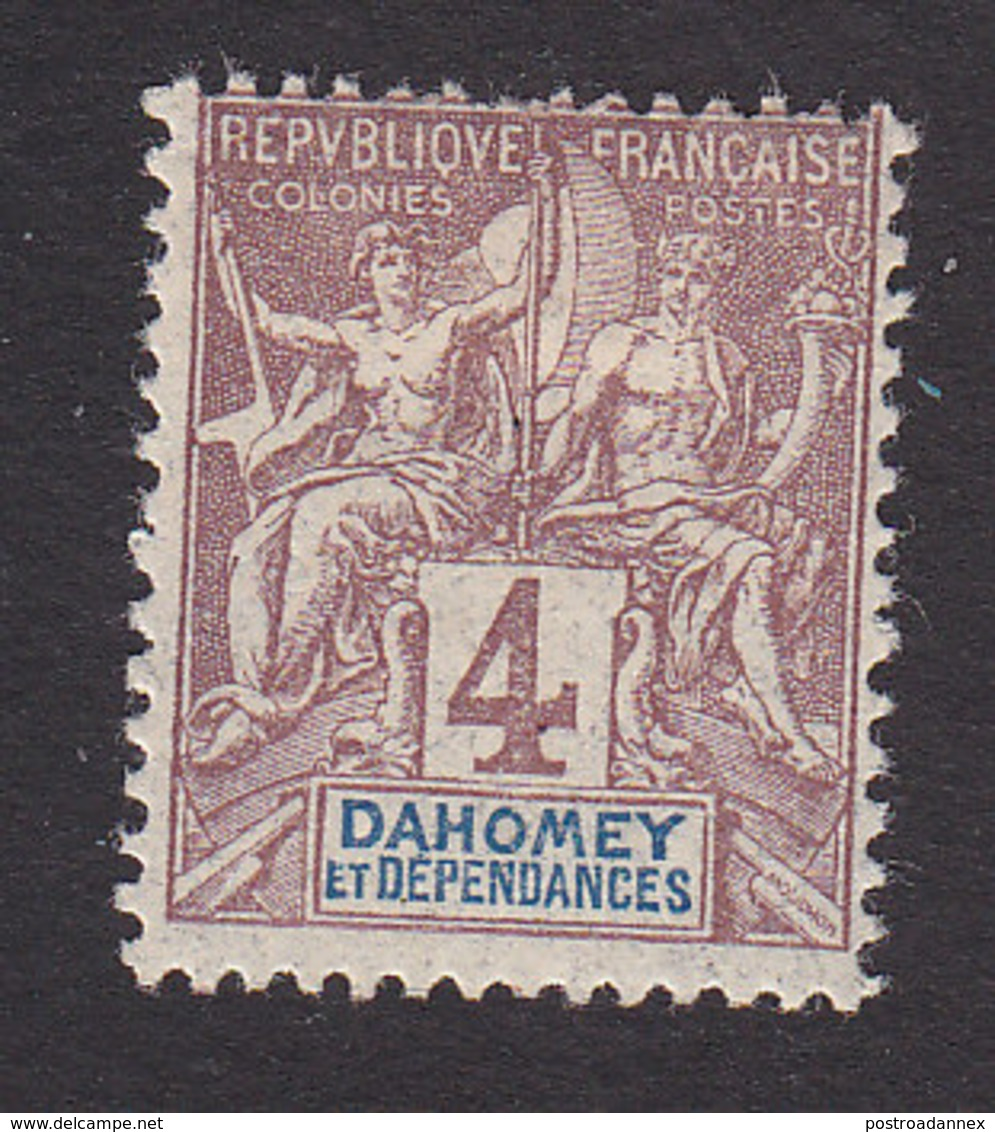 Dahomey, Scott #3, Mint Hinged, Navigation And Commerce, Issued 1899 - Neufs