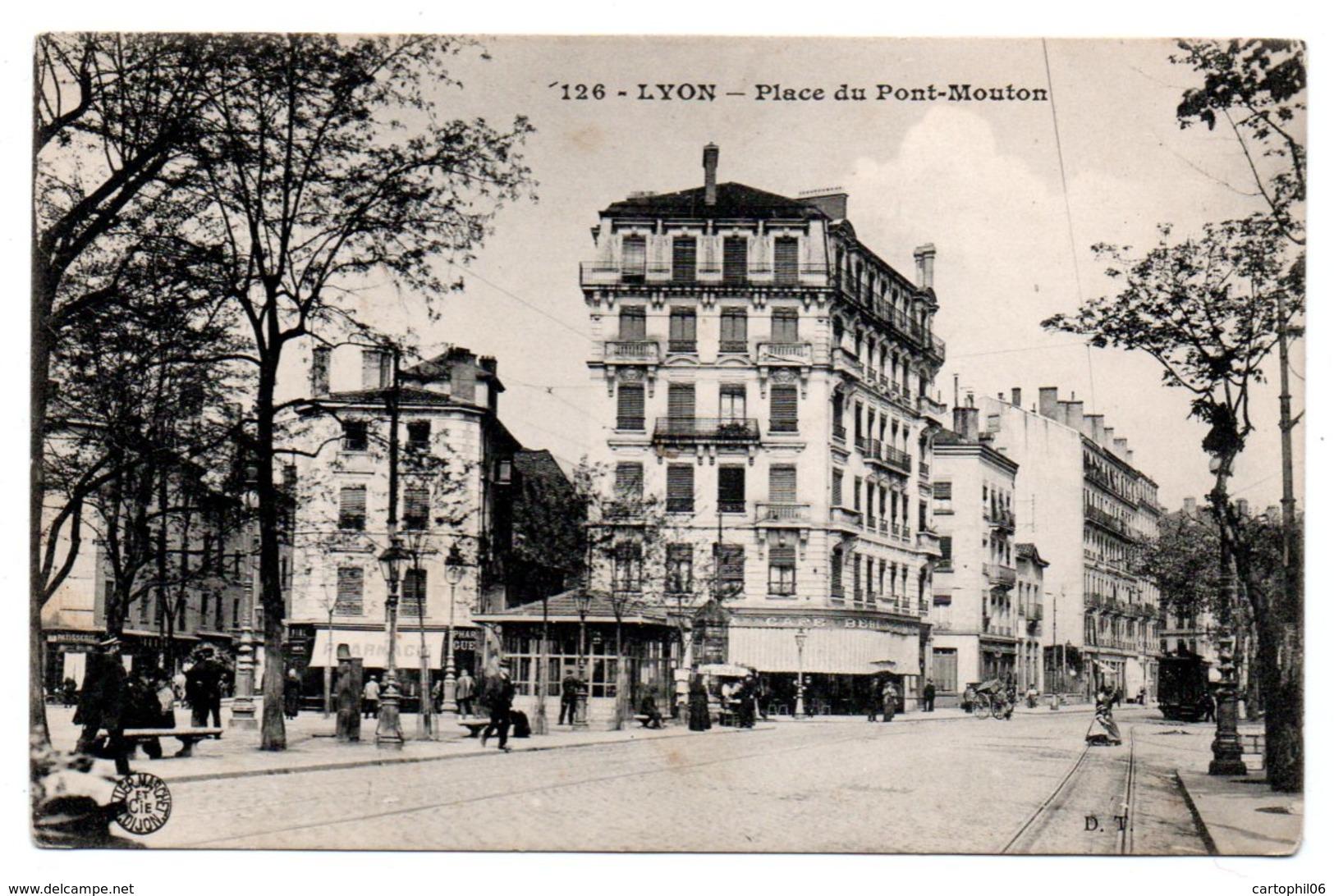 - CPA LYON (69) - Place Du Pont-Mouton 1914 (avec Personnages) - Edition D. T. 126 - - Lyon