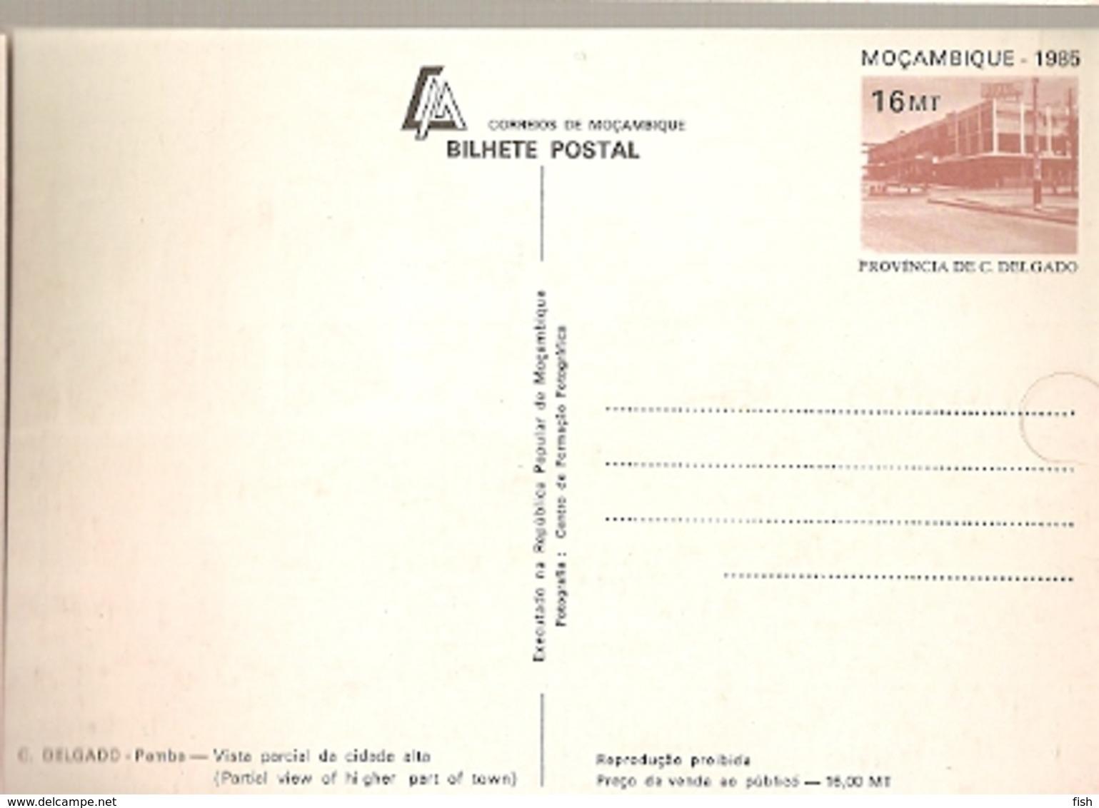 Mozambique ** & Inteiro Postal, Cabo Delgado, Pemba, Partial View 1984 (6868) - Mozambico