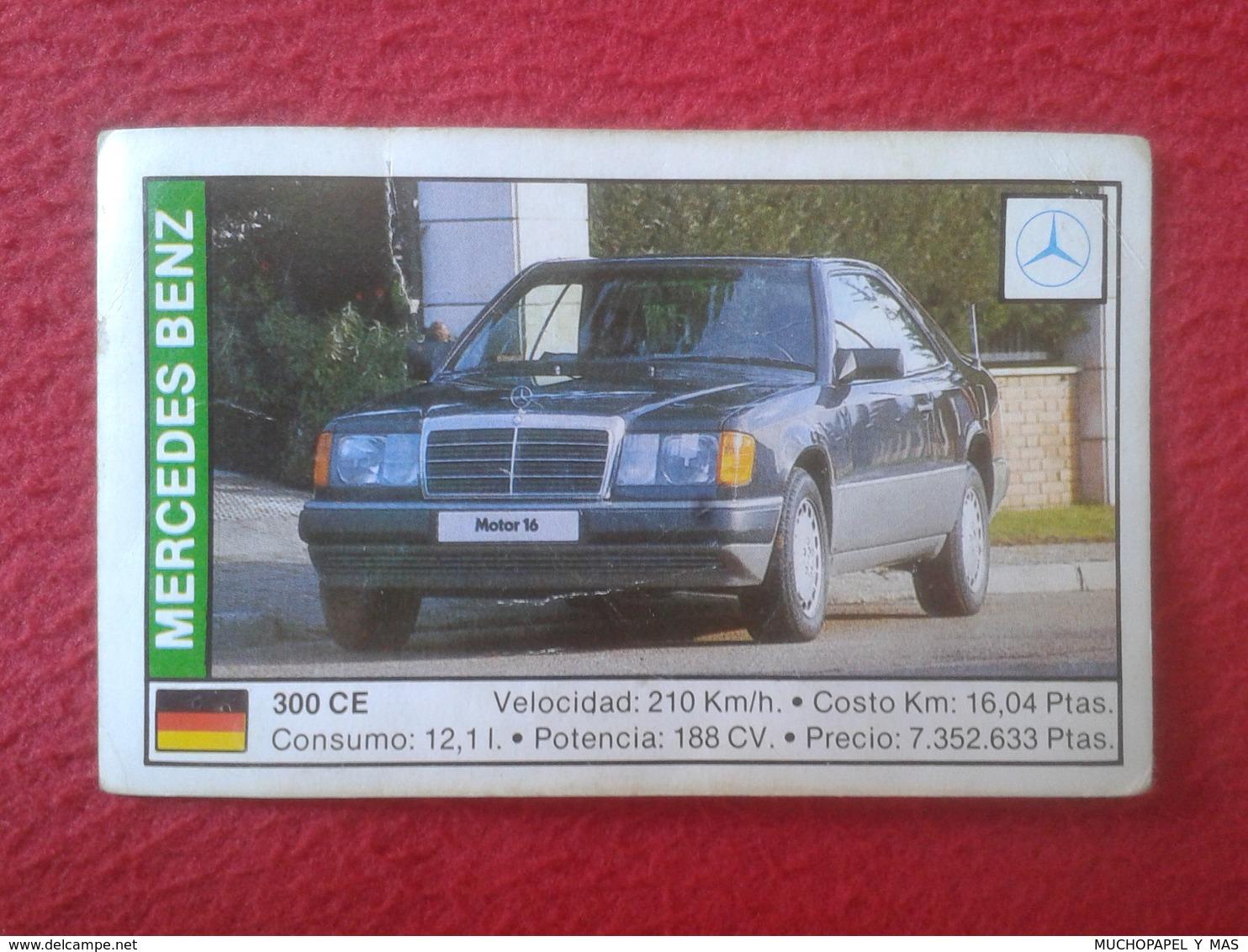 SPAIN ESPAGNE. ANTIGUO OLD CROMO ESTAMPA 1988 COCHES 89 COCHE CAR CARS AUTO AUTOMÓVIL MERCEDES BENZ 300 CE GERMANY VER F - Cromos