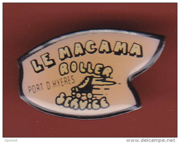 53194- Pin's-le Macama Roller .Port D'Hyères.Skate.patinage.... - Patinage Artistique