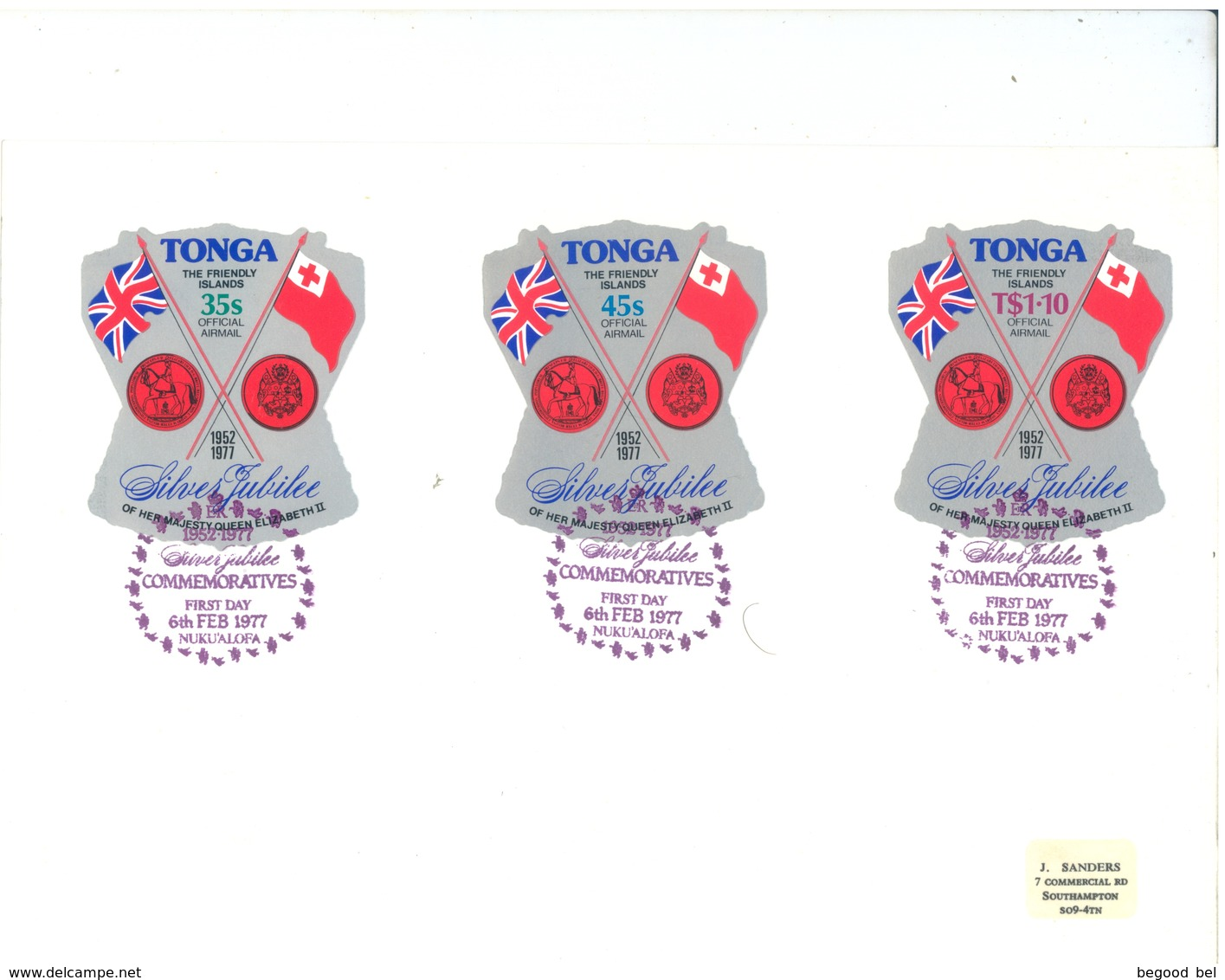 TONGA - FDC - 6.2.1977 - SILVER JUBILEE  - Yv SERVICE 114-116 PA 201-208 - Lot 17522 - SEE THE SCANS - Tonga (1970-...)
