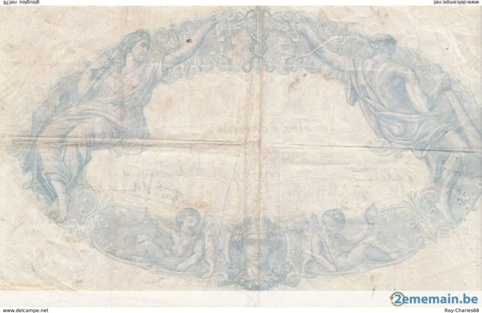 "Billet De Banque .france ""bleu Et Rose"" 500 Francs 1938 - 1871-1952 Anciens Francs Circulés Au XXème"
