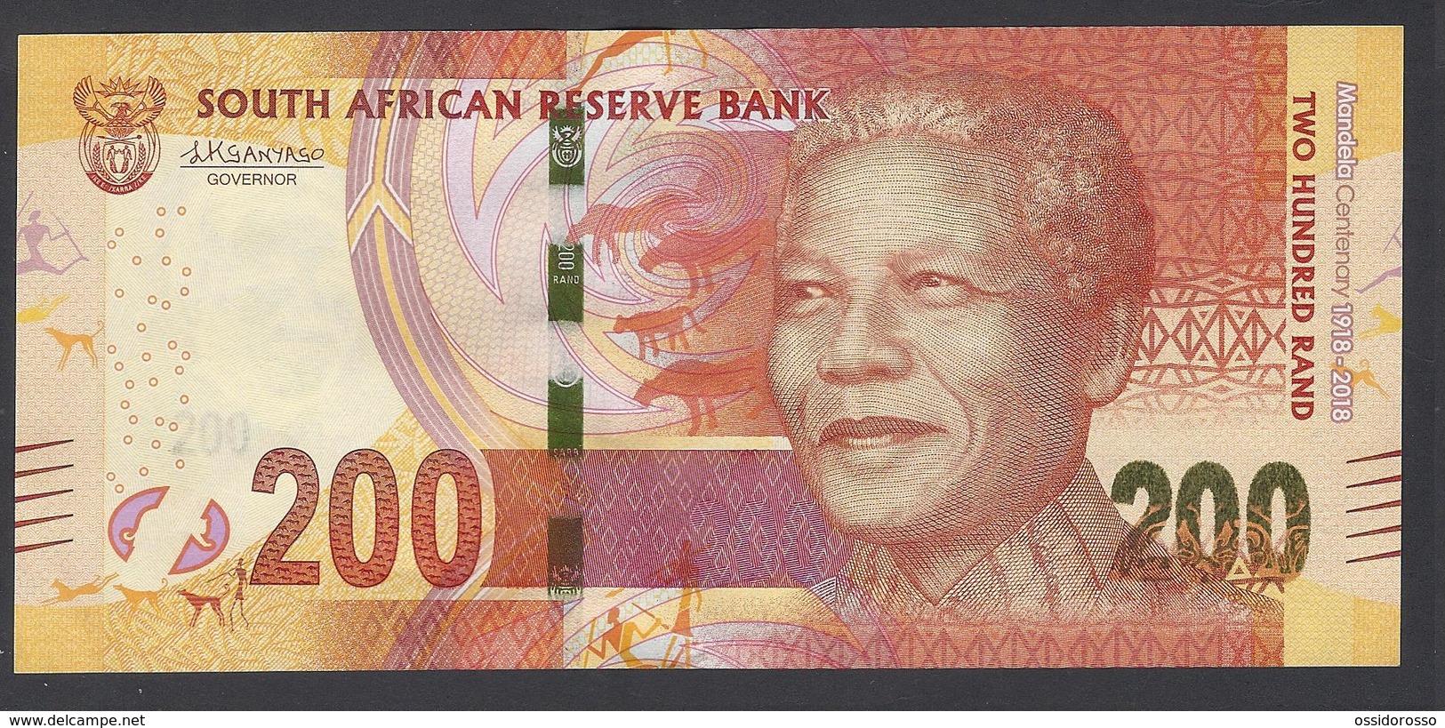 South Africa - 200 Rand -  MANDELA Centenary - 1918 - 2018 - SA0527695 E   - UNC - Afrique Du Sud