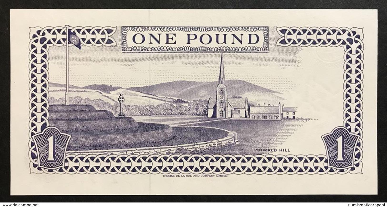 Isle Of Man 1 Pound Signature 5  Fds  LOTTO 2024 - [ 4] Isle Of Man / Channel Island