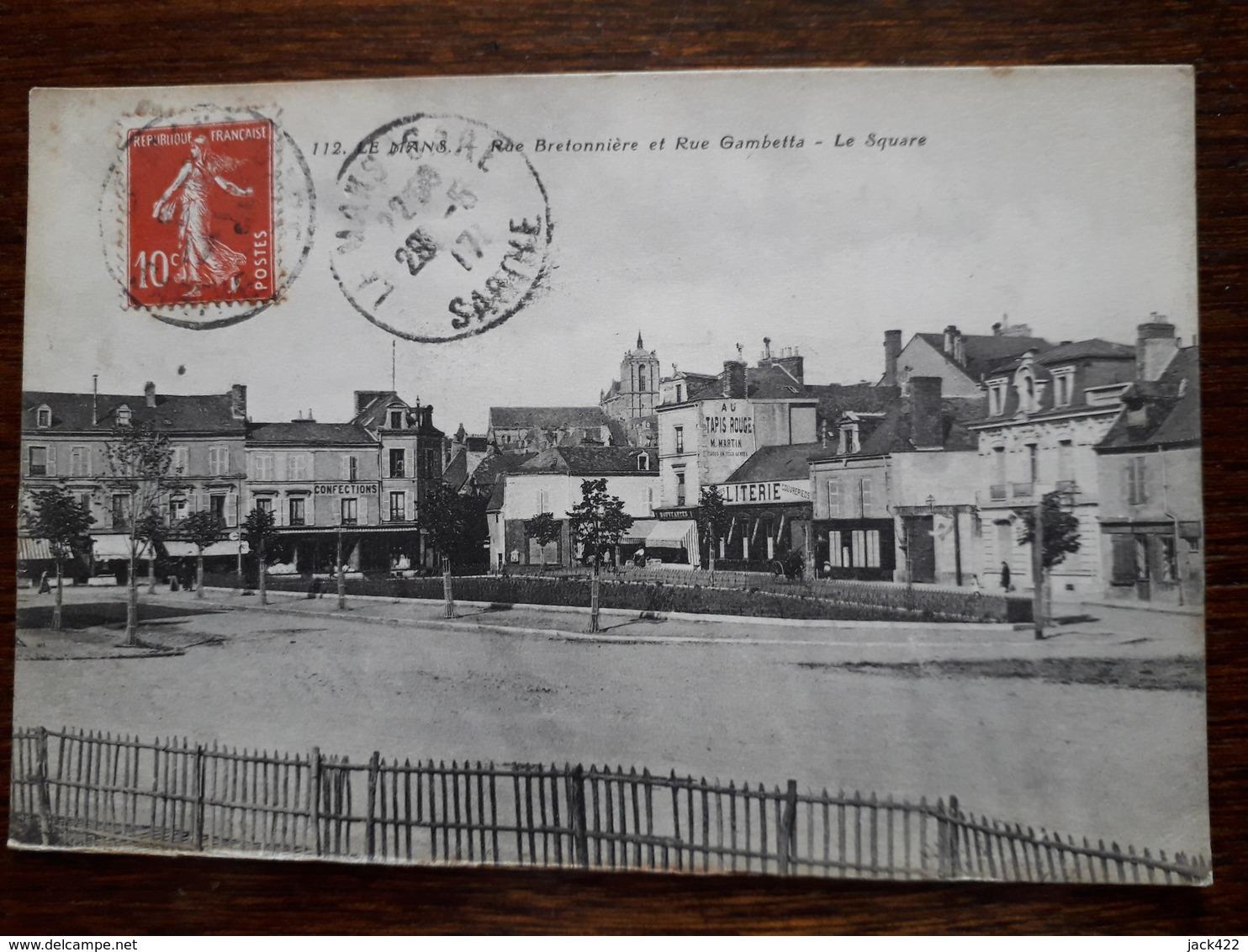 L5/138 Le Mans. Rue Bretonniere Et Rue Gambetta . Le Square - Le Mans