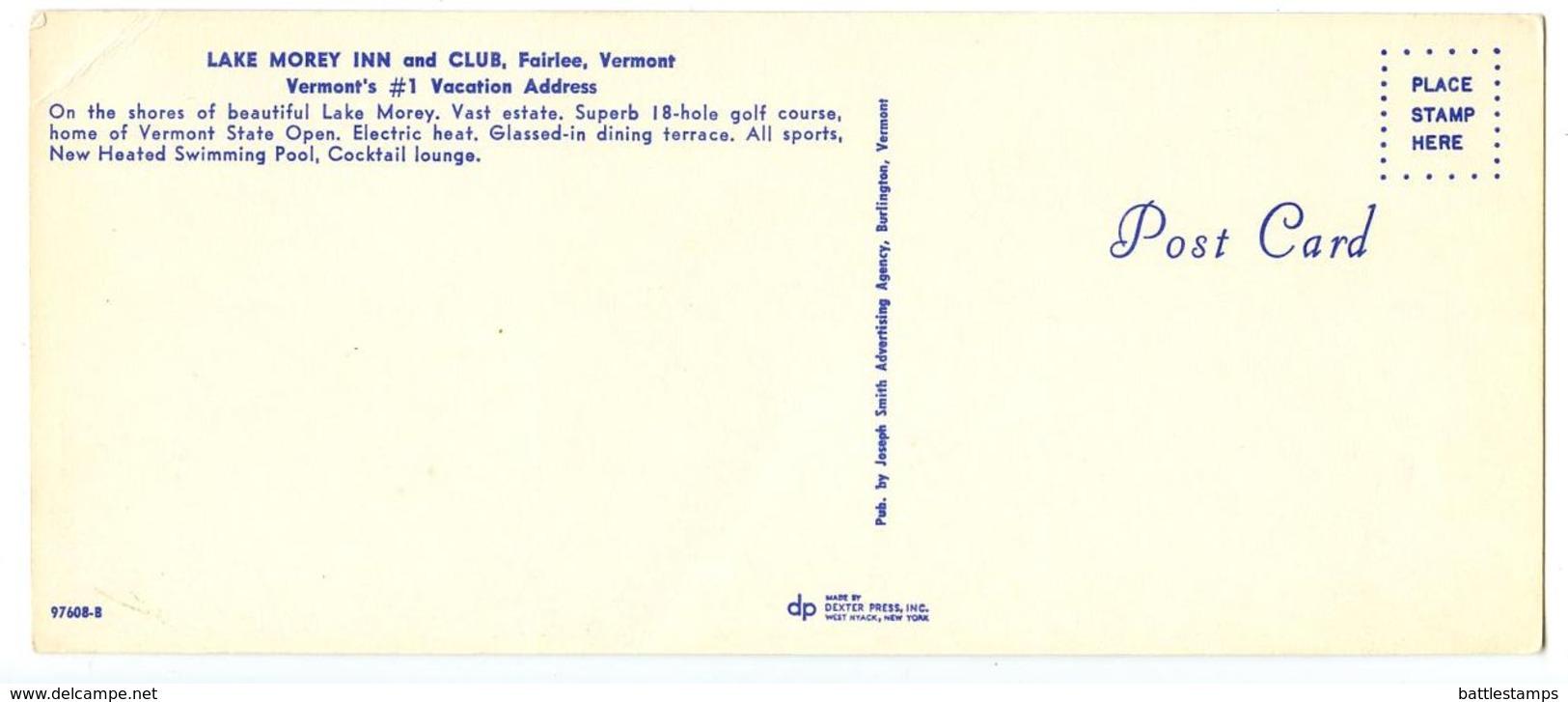 United States Modern Postcard Lake Morey Inn And Club - Fairlee, Vermont - United States
