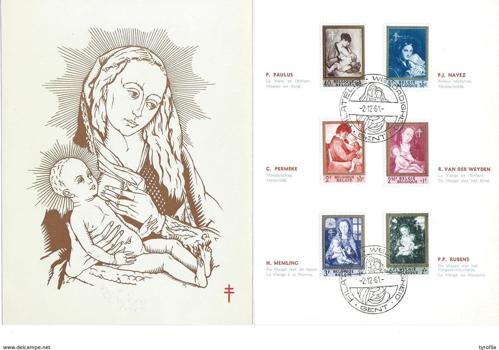 België     O.B.C.  Macrofili.  1198 / 1203  Moeder En Kind    Gent - Revenue Stamps