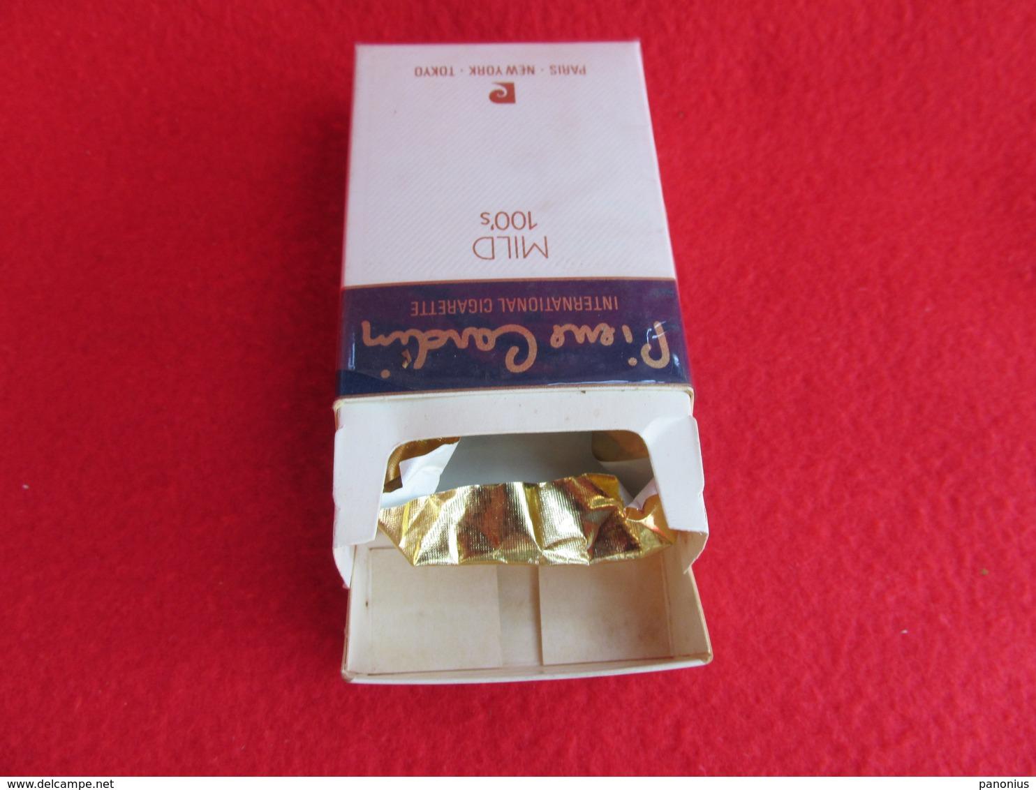 TOBACCO CIGARETTES CARDBOARD BOX PIERRE CARDIN  EMPTY - Boites à Tabac Vides