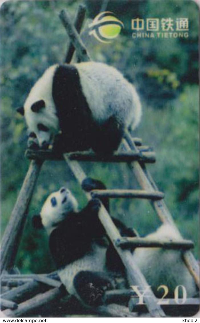 Télécarte De Chine - Animal - PANDA GEANT & Echelle - China Tietong Phonecard - 454 - Chine