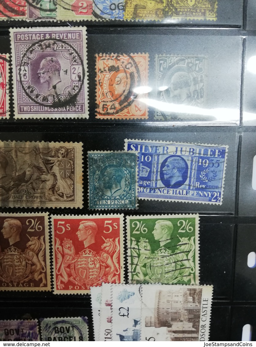 Timbres Lot Royaume-Uni Oblitérés - Cote énorme = + 5500 € -- Great Britain Lot Classical Stamps (first Period) CV 5500€ - Collections