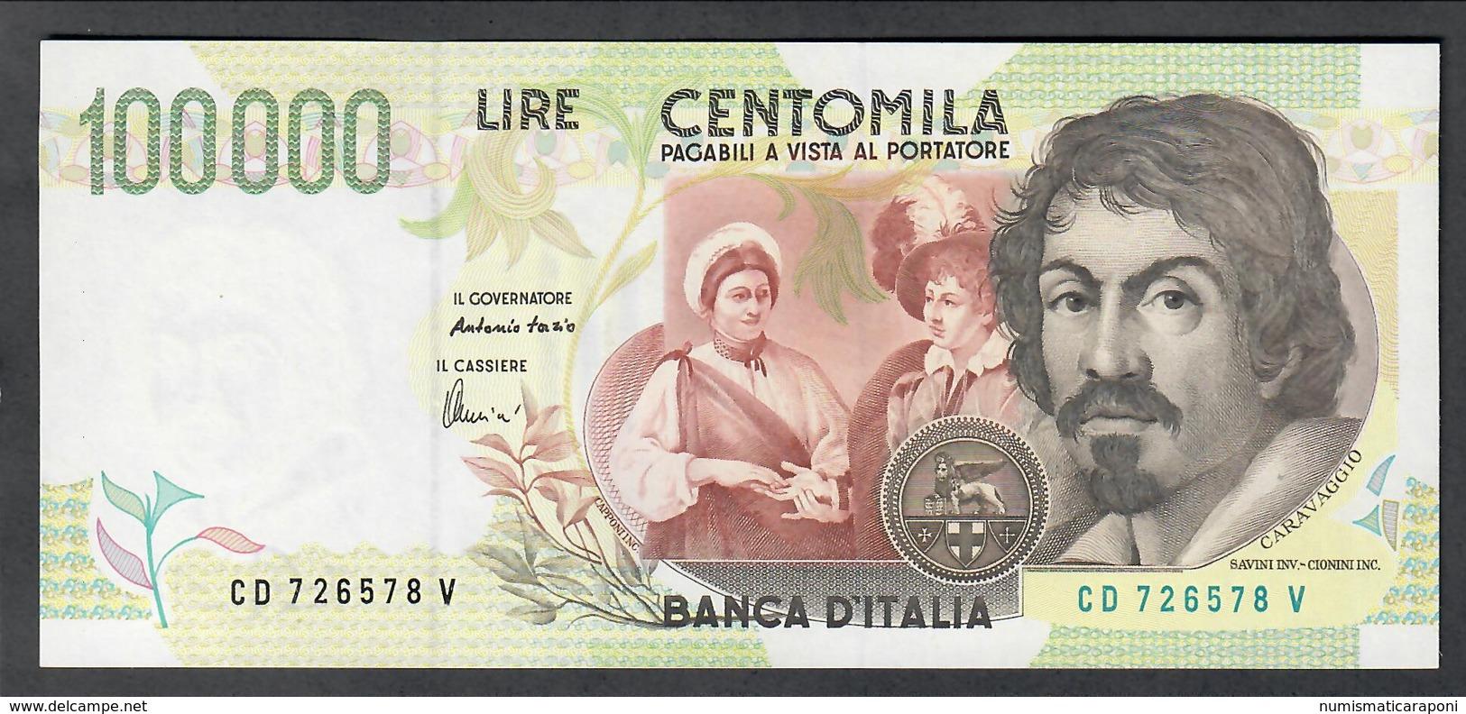 100000 Lire CARAVAGGIO 2° TIPO SERIE D 1997 Fds LOTTO 2027 - [ 2] 1946-… : Repubblica
