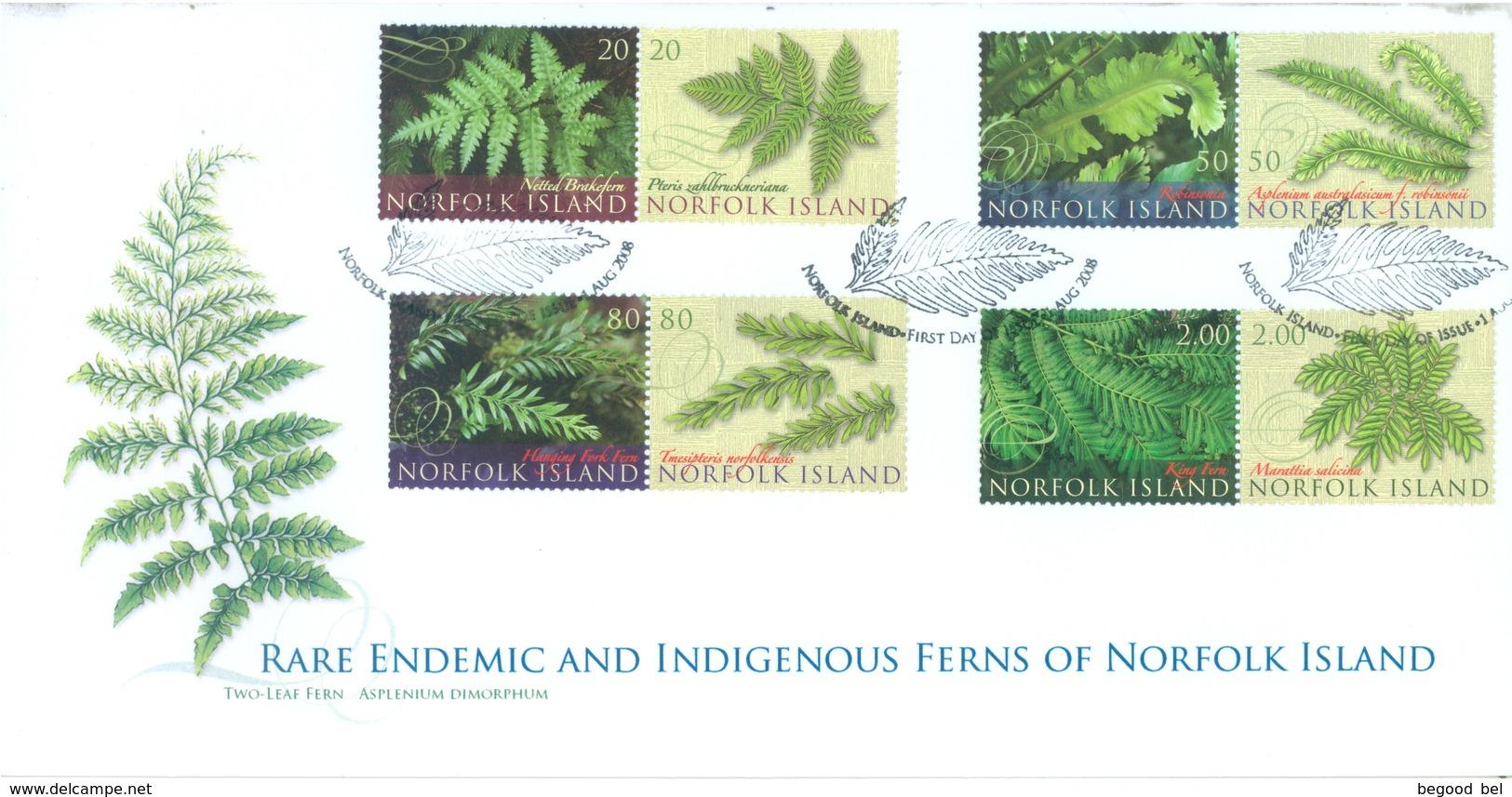 NORFOLK ISLAND - FDC - 2.9.2008 -  FLOWERS - Yv 963-970 - Lot 17574 - Ile Norfolk