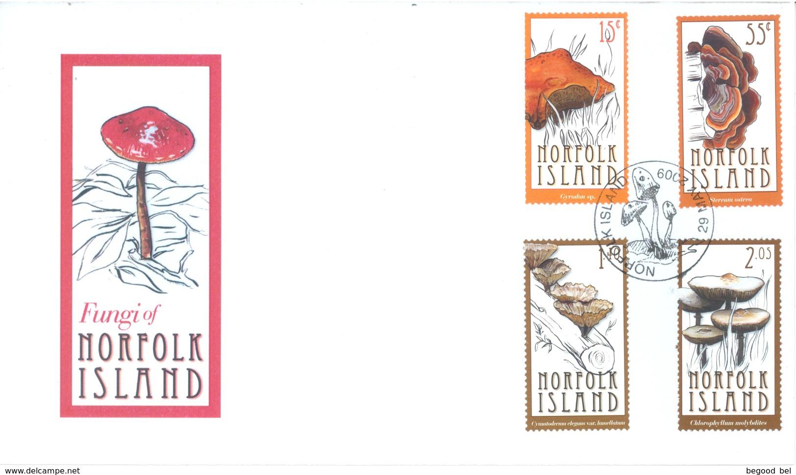 NORFOLK ISLAND - FDC - 29.5.2009 -  MUSHROOM - Yv 991-994 - Lot 17579 - Ile Norfolk