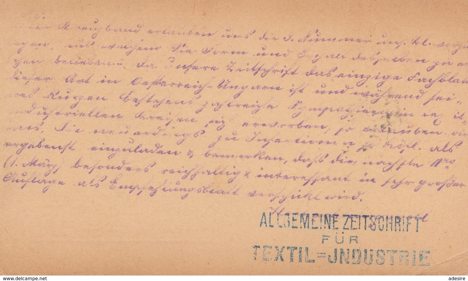 BÖHMEN 1879 - 2 Kreuzer Ganzsache Auf Pk Gel.v. Hannover > Leopoldstadt Wien > Wieden In Wien - Cartas