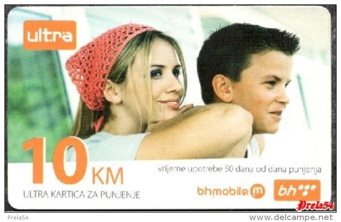 Bosnia Post Sarajevo - ULTRA PREPAID CARD (recharge) 10 KM - Bosnia