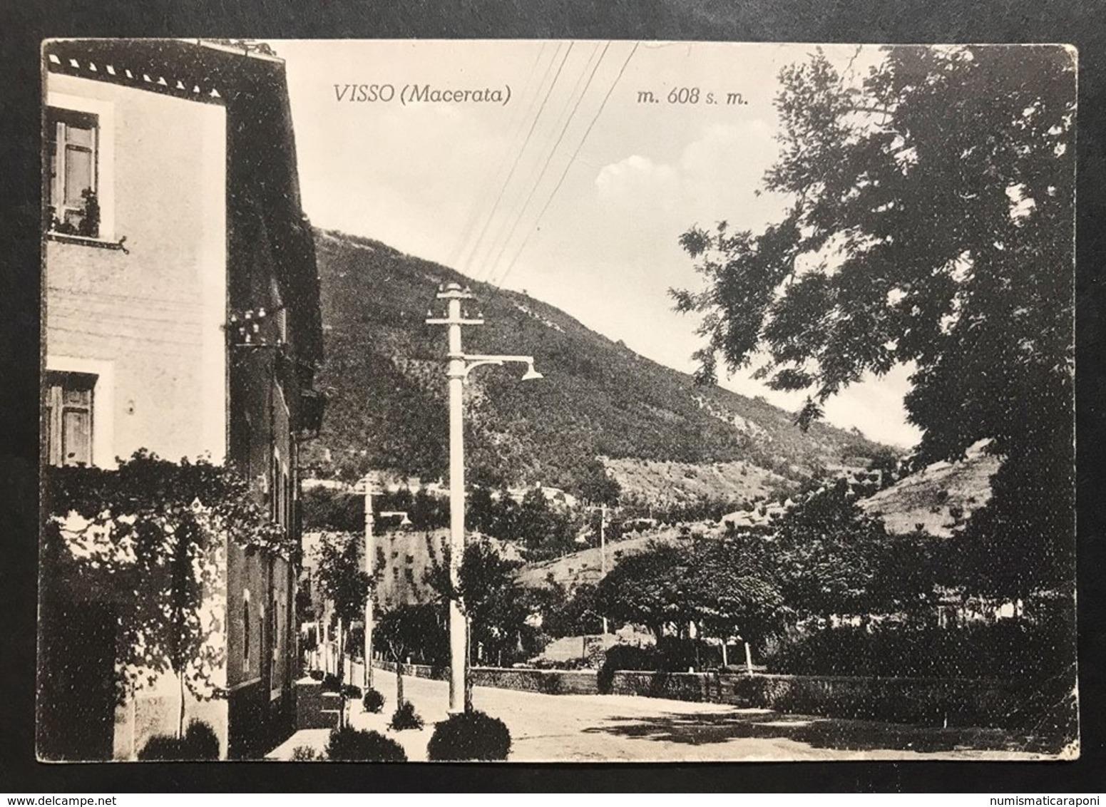 Visso Macerata Viaggiata 1955 Cod.c.2042 - Macerata