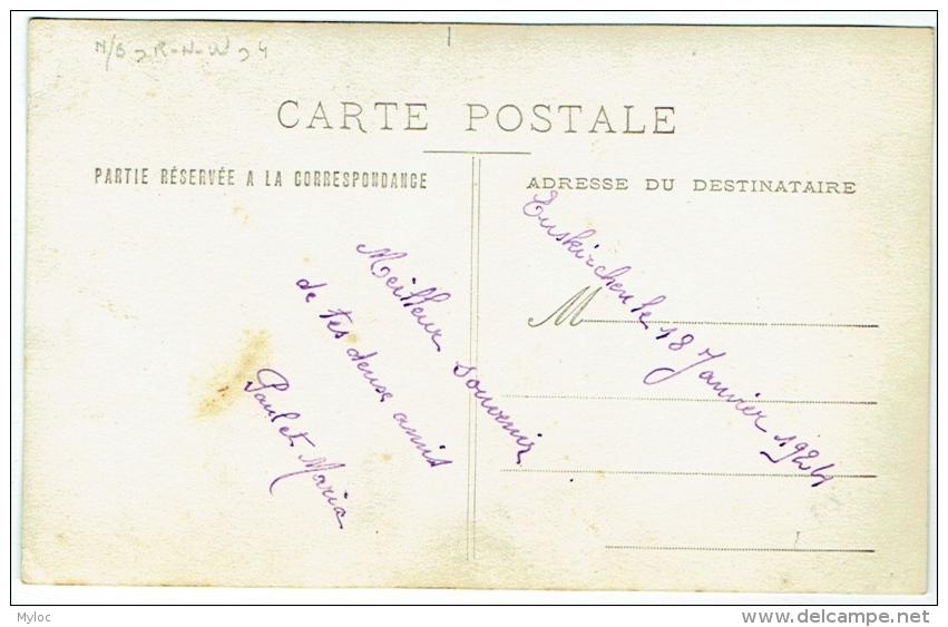 Carte Photo. Militaria. Euskirchen. 1924. Couple Avec Militaire. - War, Military