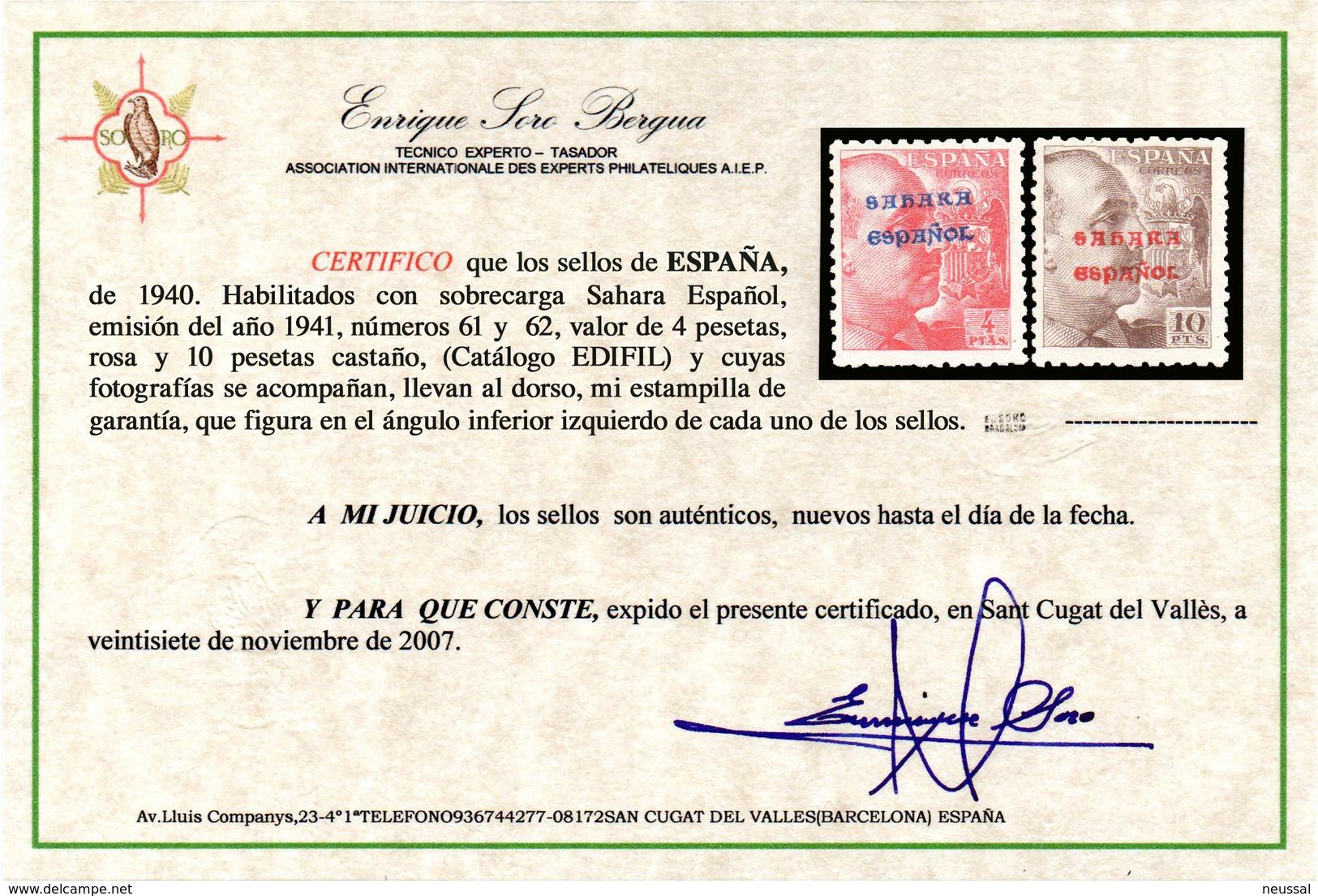 Serie Nº 48/62  Sahara - Sahara Español