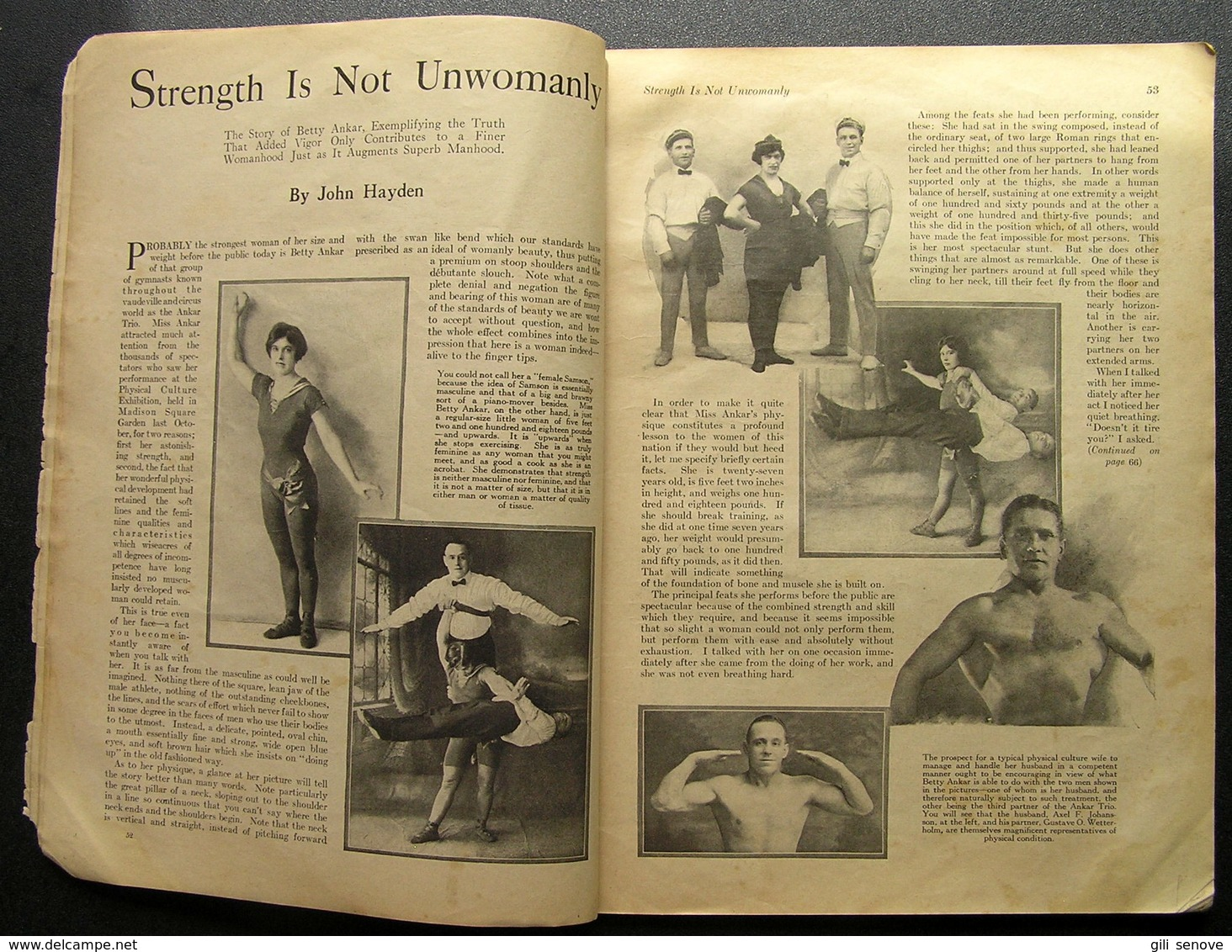 1923 USA Magazine/ Physical Culture March - Deportes