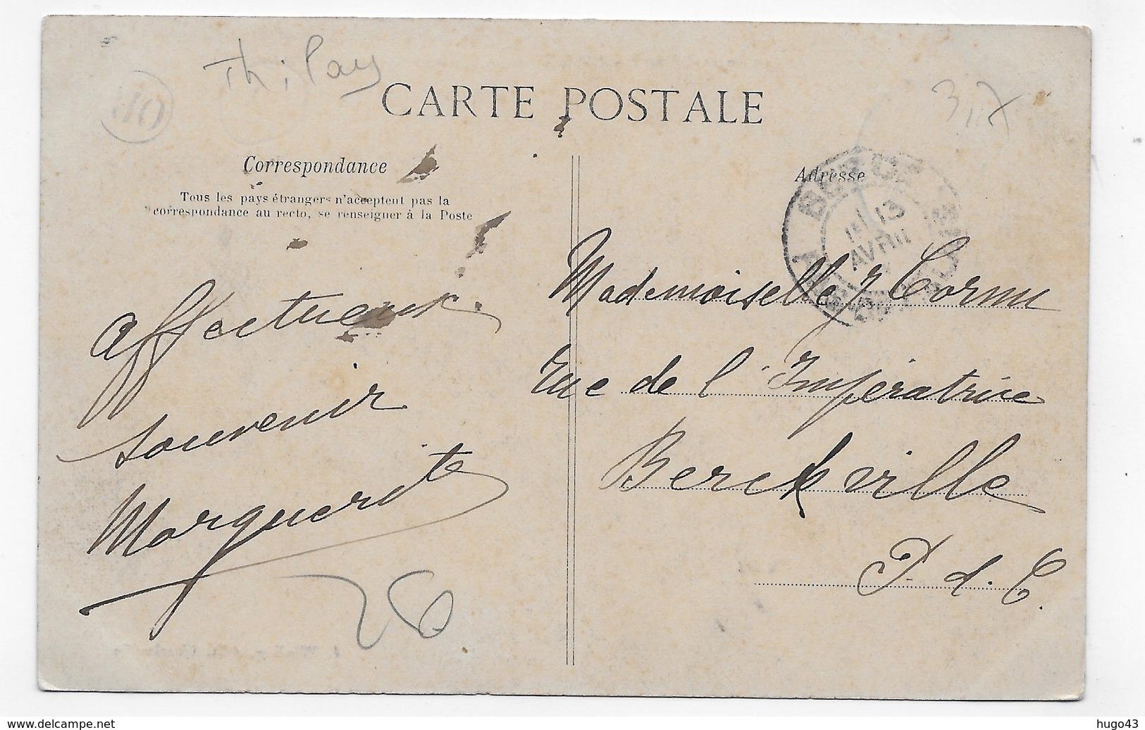 (RECTO / VERSO) NAUX EN 1907 - LA PASSERELLE SUR LA SEMOY - BEAU CACHET - CPA VOYAGEE - France