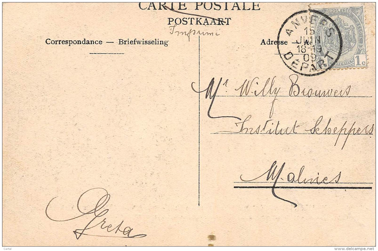 ANTWERPEN - Koloniale Feesten - 6 Juni 1909 - Algemeen Zicht Der Beurs, Gedurende Het Koninklijk Bezoek - Antwerpen