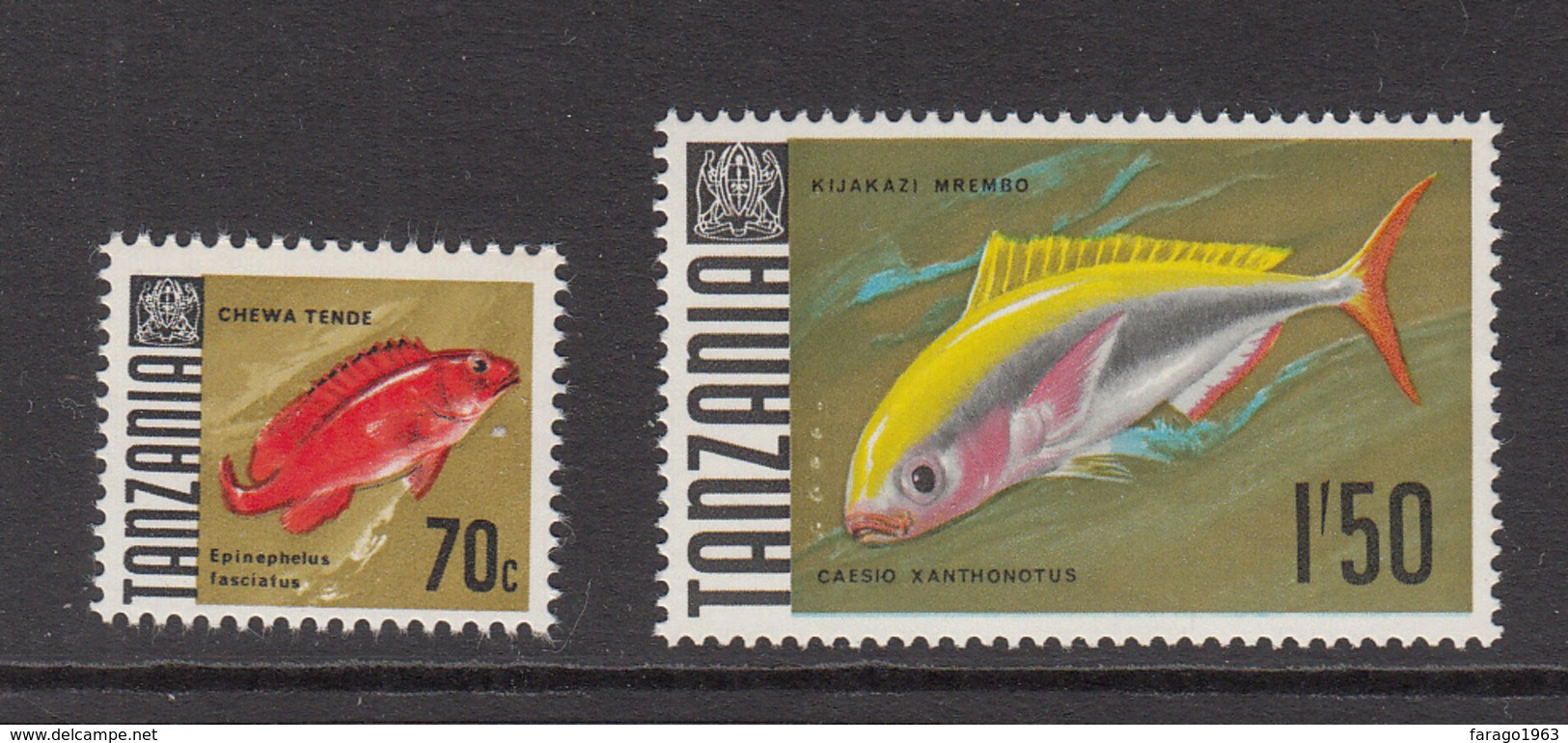 "1969 Tanzania Fish ""Late Issues"" Complete Set Of 2 MNH Sg150 - Tanzania (1964-...)"
